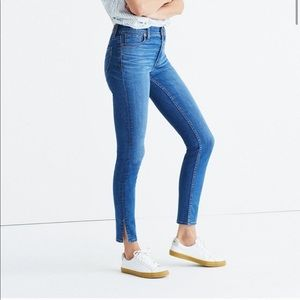 "Madewell 9"" High Rise Skinny Ankle Slit Jeans"